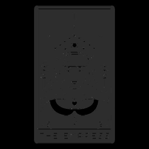 Tarot card the empress cut out