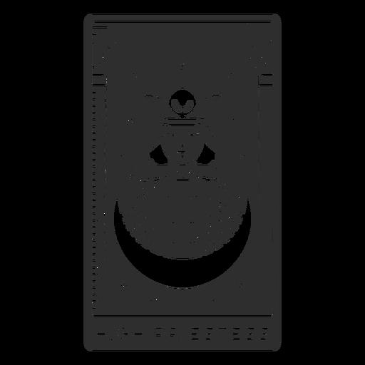 Tarot card high priestess cut out