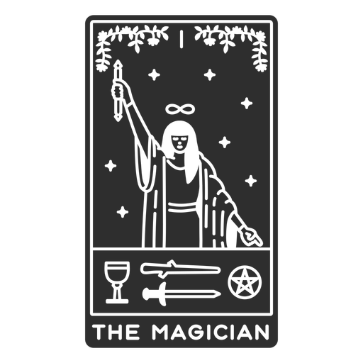 Tarot card the magician cut out