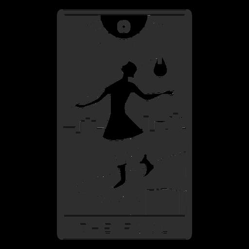 Tarot card the fool cut out