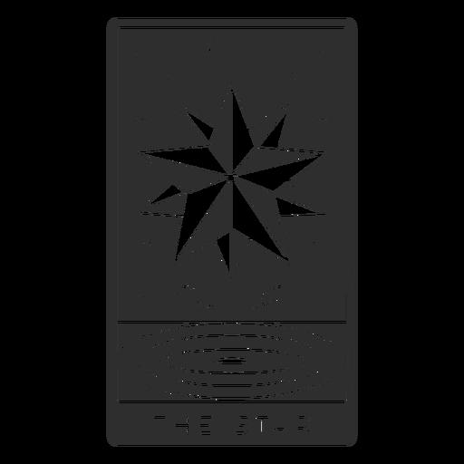 Tarot card the star cut out