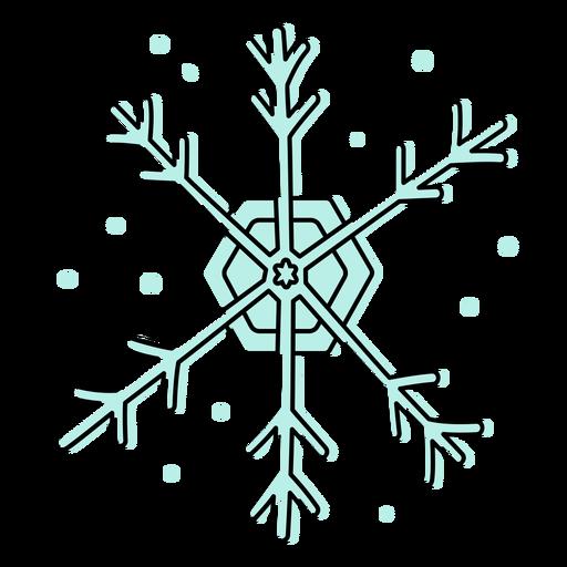 Snowflake color stroke
