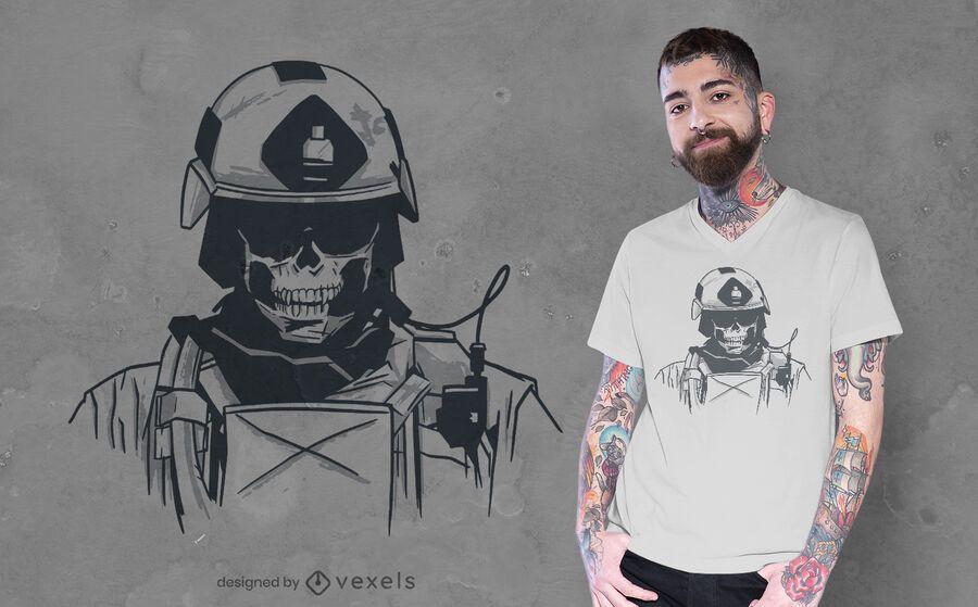 Special forces skull t-shirt design