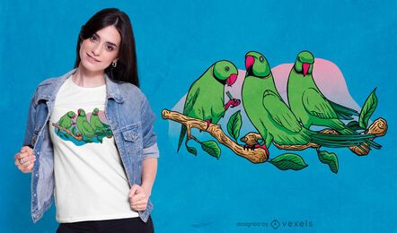 Three parrots t-shirt design