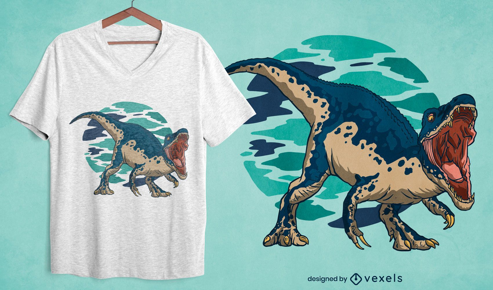 Design de camiseta de dinossauro barionix