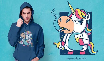Bad habits unicorn t-shirt design