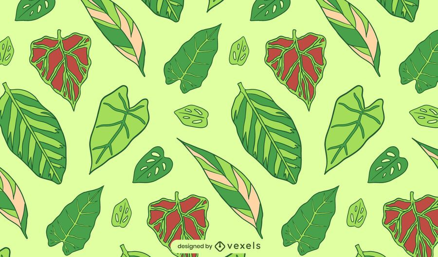 Green leaves nature plant pattern