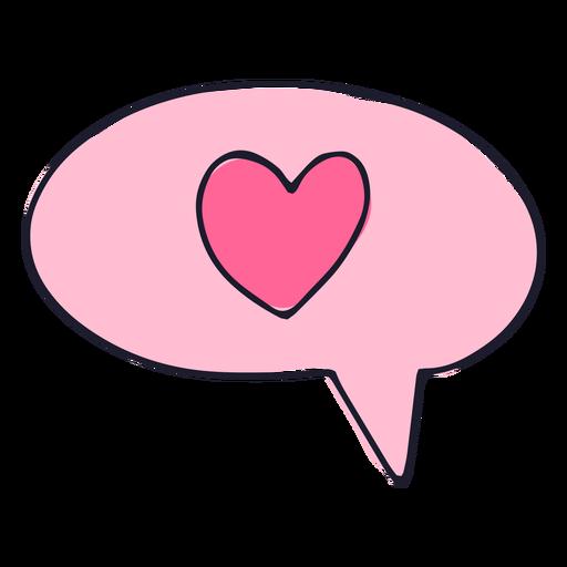 Love message balloon color stroke