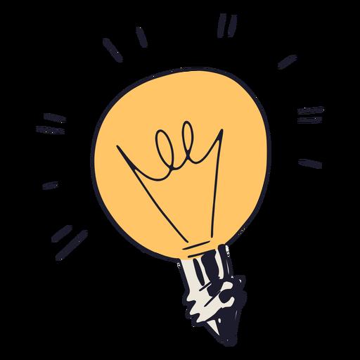 Light bulb semi flat