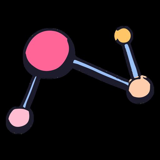 Pink molecule color stroke