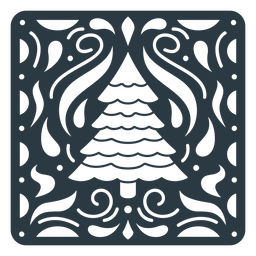 Christmas tree papel picado