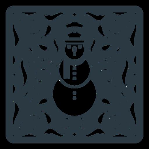 Snowman papel picado