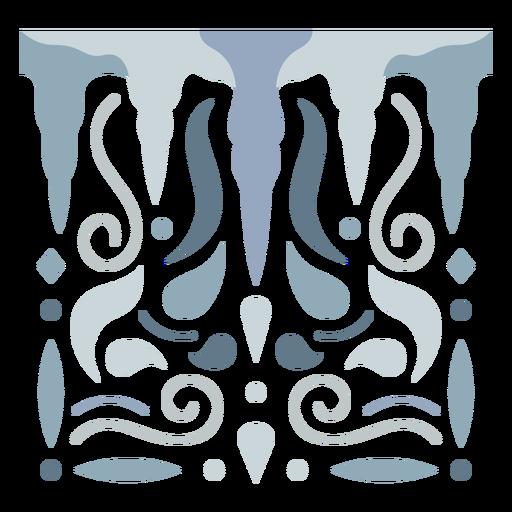 Ice stalactites design semi flat
