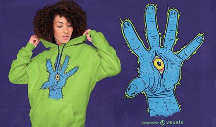 Diseño de camiseta de mano Illuminati.