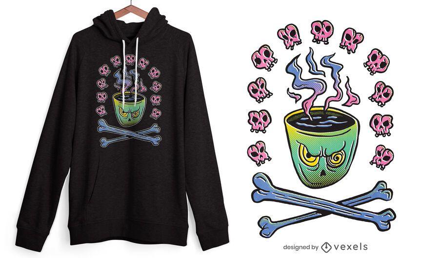 Evil coffee mug t-shirt design