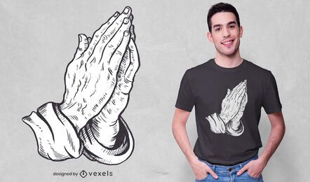 Praying hands t-shirt design