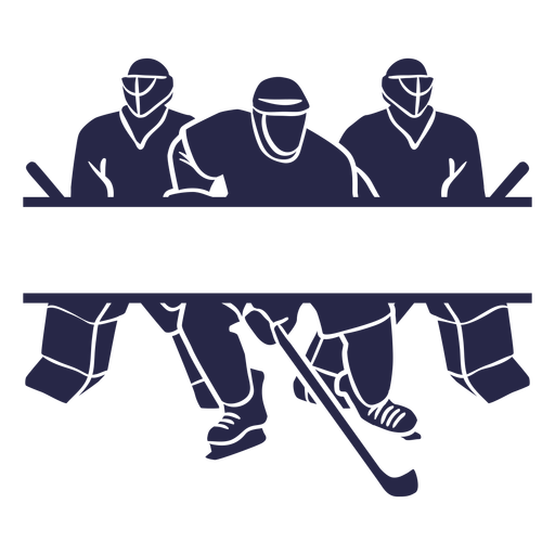 Hockey players rectangular label cut out