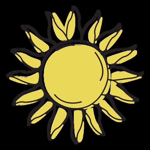Sunshine color stroke