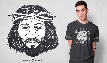 Jesus christ portrait t-shirt design