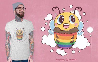 Diseño de camiseta de abeja lgbt