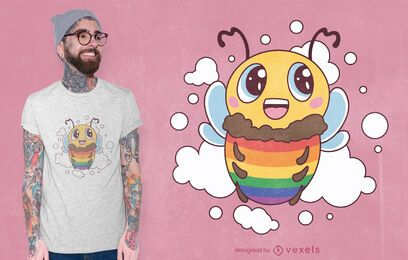 Lgbt bee t-shirt design