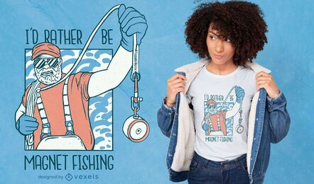 Magnet fishing t-shirt design