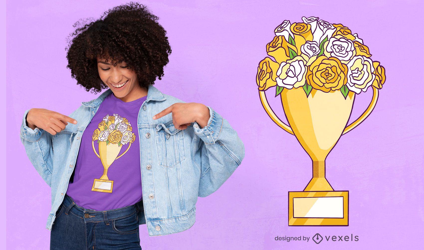 Trophy flowers t-shirt design