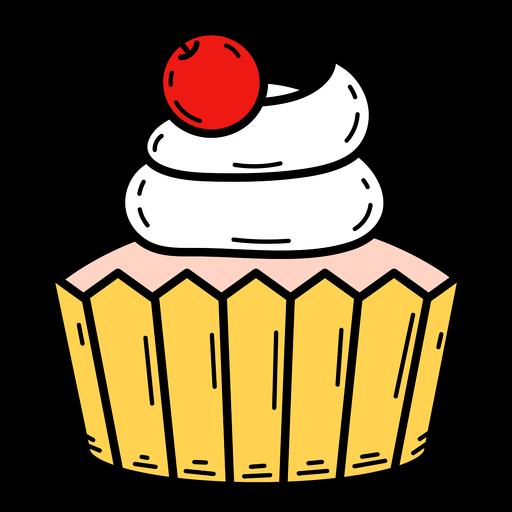 Cherry cupcake color stroke