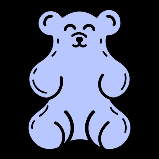 Traço colorido de ursinho de goma