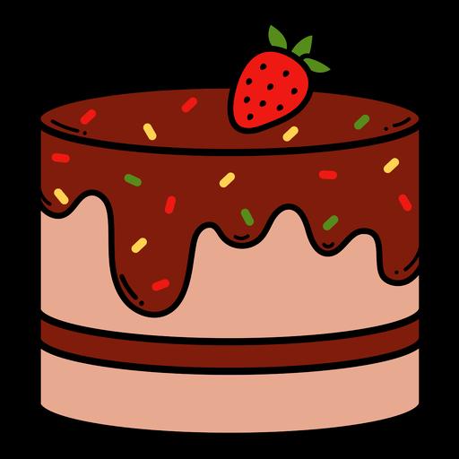 Strawberry cake color stroke