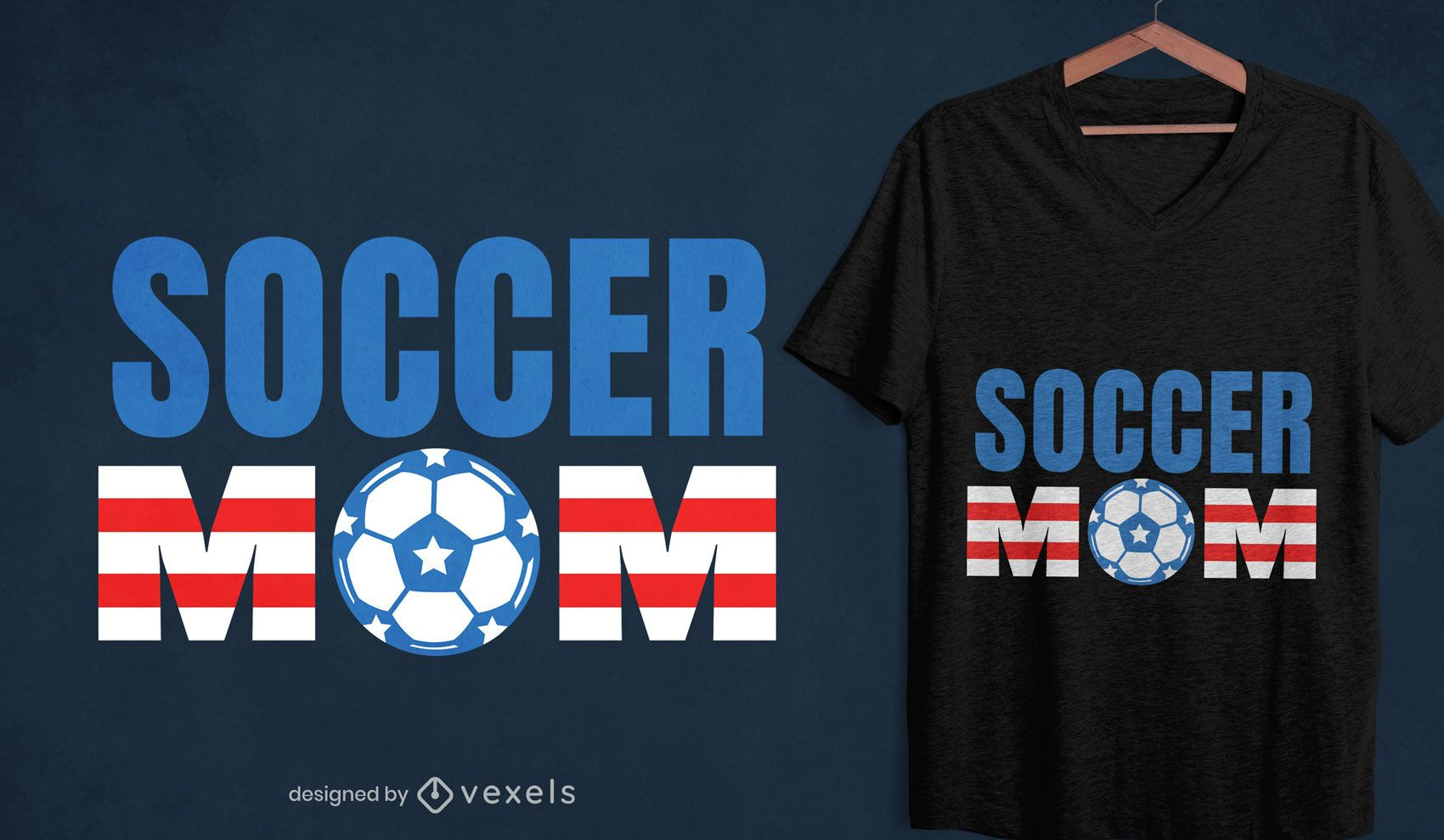 American soccer mom t-shirt design
