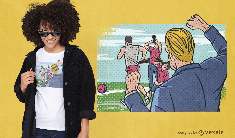 Flunkyball comic t-shirt design