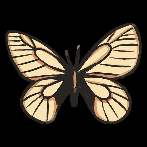 White butterfly illustration