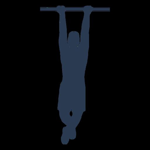 Man doing pull ups silhouette