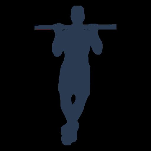 Man in horizontal bar silhouette