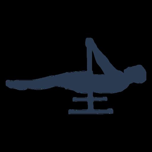 Man doing horizontal pull ups