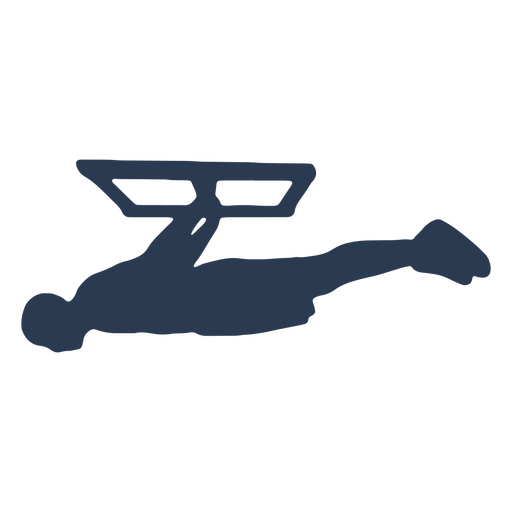 Man training silhouette