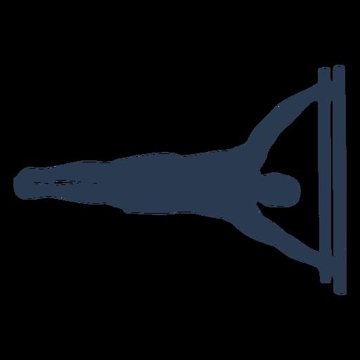 Man doing human flag silhouette