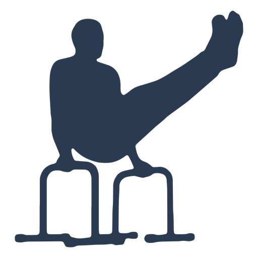 Man practicing strength silhouette