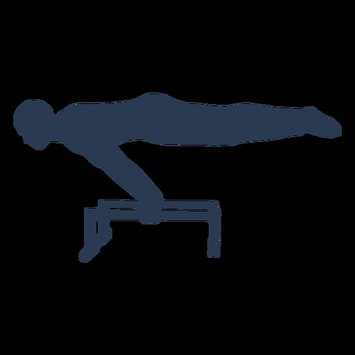 Man doing gymnastics silhouette