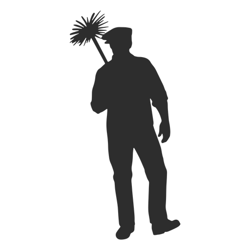 Chimney sweep standing silhouette