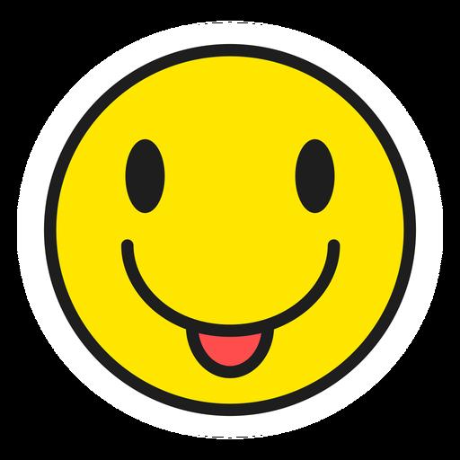 Tongue out emoji color stroke