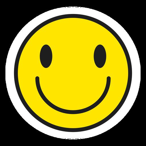 Happy emoji color stroke