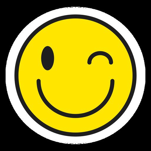 Winking emoji color stroke