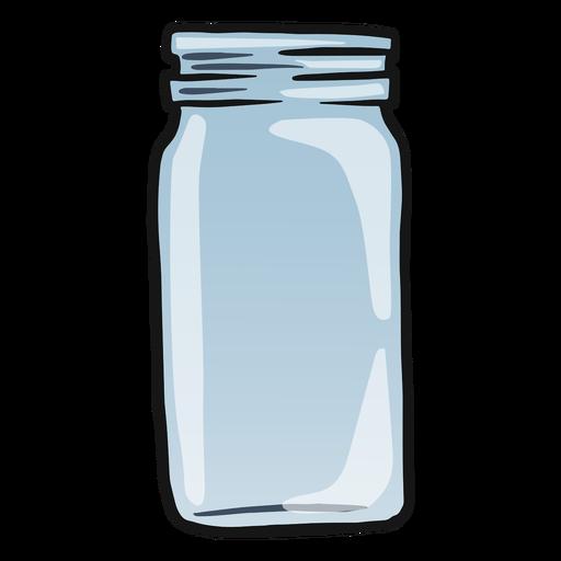 Trazo de color de tarro de vidrio vacío