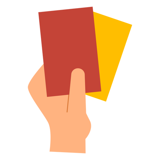 Red and yellow penalty cards flat