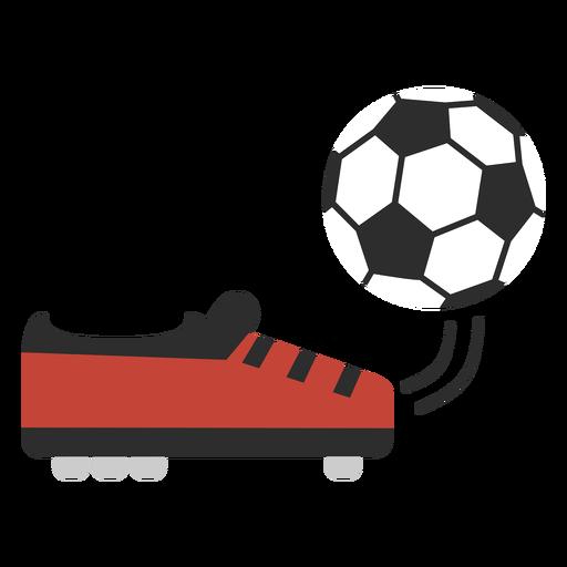 Foot kicking ball flat