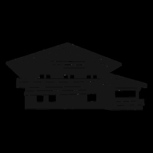 Modern house cut out