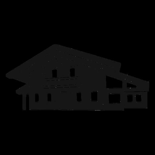 Modern house diagonal cut out