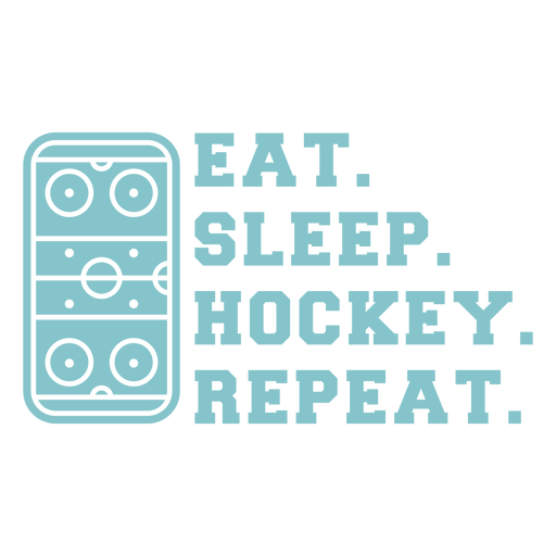 Eat sleep hockey repeat quote cut out